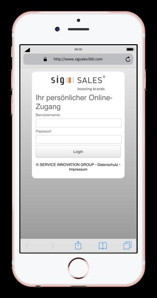 sig sales app jetzt